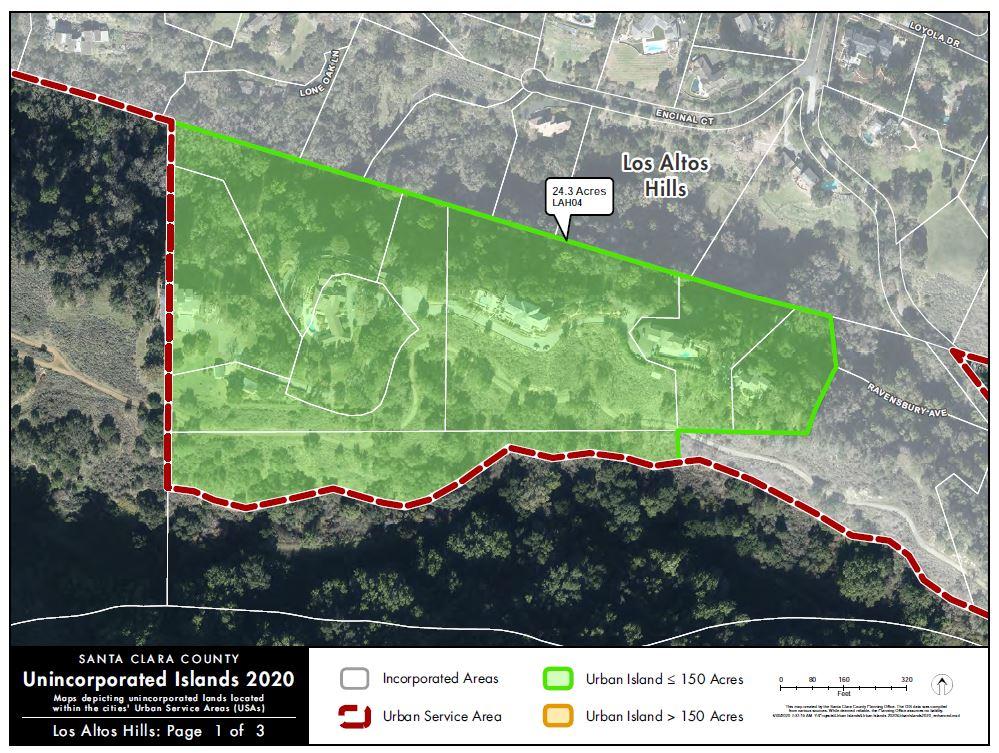 Unincorporated Islands in Los Altos Hills