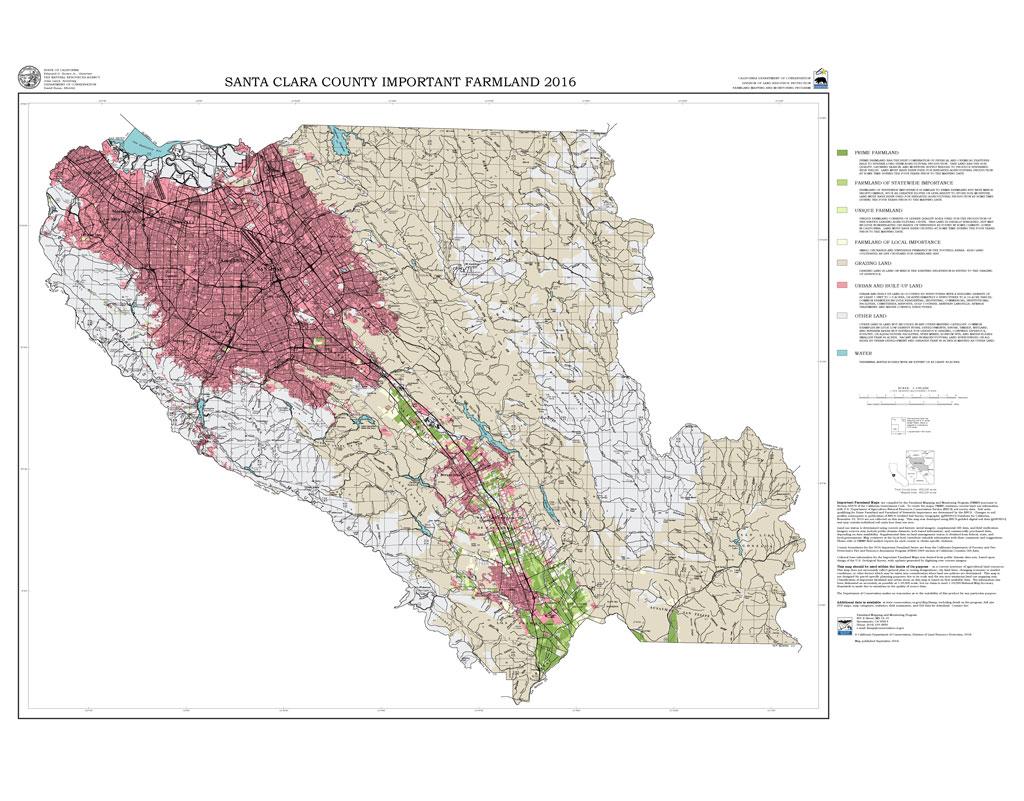 2016 Santa Clara County Important Farmlands Map